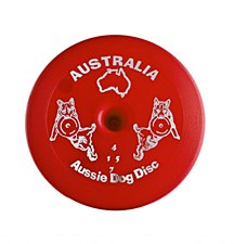 Aussie Dog Fly... It Disc Hard Red Dog Toy