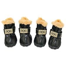 Dog Shoes Black Size 4