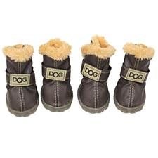 Dog Shoes Chocolate Size 3