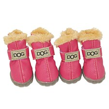 Dog Shoes Pink Size 3