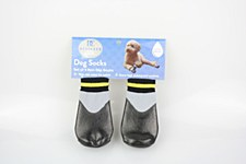 Dog Socks Waterproof Non Slip Black Large