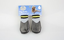 Dog Socks Waterproof Non Slip Black Small