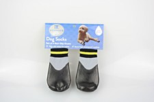 Dog Socks Waterproof Non Slip Black Extra Large