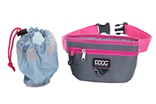 Doog Treat Pouch Large Grey & Pink