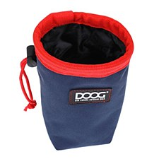 Doog Treat Pouch Small Navy & Red