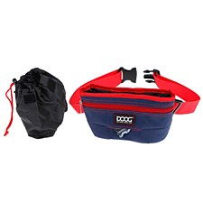Doog Training Treat Pouch Large Navy & Red