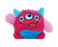 Allpet Monstaaargh Boo Medium Pink Plush Dog Toy