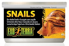 Exo Terra Snails De-shelled Can 48g Reptile Food
