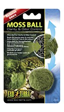 Exo Terra Moss Ball for Clarity & Odor Control