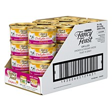 Fancy Feast Delights with Cheddar Grilled Chicken & Cheddar Cheese Feast in Gravy 85g x 24 Wet Cat Food