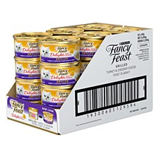 Fancy Feast Delights with Cheddar Grilled Turkey & Cheddar Cheese Feast in Gravy 85g x 24 Wet Cat Food