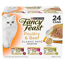 Fancy Feast Poultry & Beef Classic Pate Collection 85g X 24 Wet Cat Food