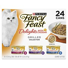 Fancy Feast Delights with Cheddar Grilled Collection 85g X 24 Wet Cat Food
