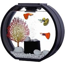 Blue Planet Deco O Black 20 Litre Fish Tank