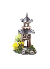 Kazoo Fish Tank Ornament Chinese Temple Small