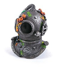 Kazoo Fish Tank Ornament Divers Helmet with Air Medium