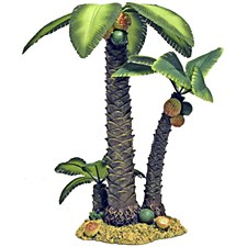 Pet Pacific Fish Tank Ornament Palm Tree Island Large