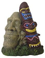Pet Pacific Fish Tank Ornament Tiki Stone Statue
