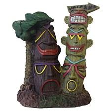 Pet Pacific Fish Tank Ornament Tiki Totem Pole
