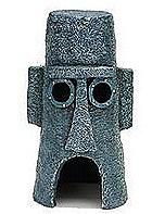 Penn Plax Fish Tank Ornament Sponge Bob Squidward's Easter Island Home