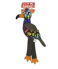 Furkidz Carnival Parrot with Elastic Legs Dog Toy 40cm