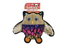 Furkidz Carnival Rainbow Owl Dog Toy 30cm