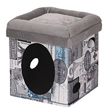 Furkidz Paris Subway Box Cat Bed