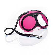 Flexi Classic Tape Dog Lead Retractable Large 5m Pink