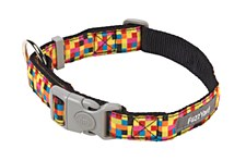 FuzzYard Dog Collar Multi Colour Large