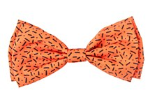 FuzzYard Pet Bow Tie Safari Orange with Black Small