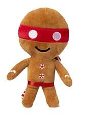 FuzzYard Ninjabread Man Small Plush Christmas Dog Toy