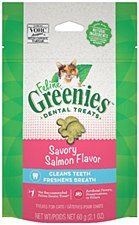 Greenies Feline Dental Treats Savory Salmon Flavor 60g