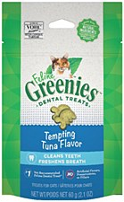 Greenies Feline Dental Treats Tempting Tuna Flavor 60g