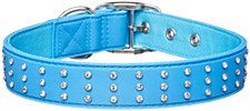 Gummi Dog Collar Bling Large Blue