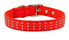 Gummi Dog Collar Bling Large Red