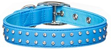 Gummi Dog Collar Bling Medium Blue
