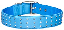 Gummi Dog Collar Bling Extra Large Blue