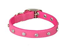 Gummi Dog Collar Bling Extra Small Pink