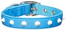 Gummi Dog Collar Spike Small Blue