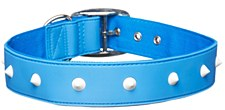 Gummi Dog Collar Spike Extra Large Blue