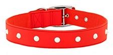 Gummi Dog Collar Spike Extra Large Red