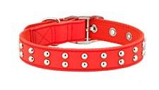 Gummi Dog Collar Stud for Puppies Red