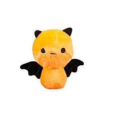 FuzzYard Halloween Plush Dog Toy Happy Bat Orange