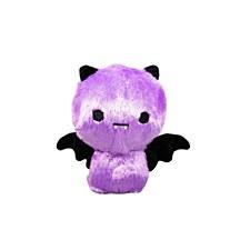 FuzzYard Halloween Plush Dog Toy Happy Bat Purple