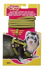 Living World Harness and Lead Set for Ferrets Green