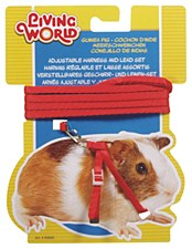 Living World Harness and Lead Set for Guinea Pigs Red