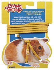Living World Harness and Lead Set for Guinea Pigs Yellow