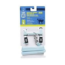 Nylon Cat Harness and Lead Medium Blue