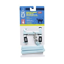 Nylon Cat Harness and Lead Small Blue