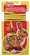 Living World Harness and Lead Set for Rabbits Yellow